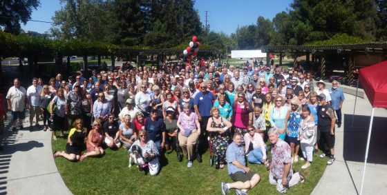 Picture of all picnic attendees from all classes