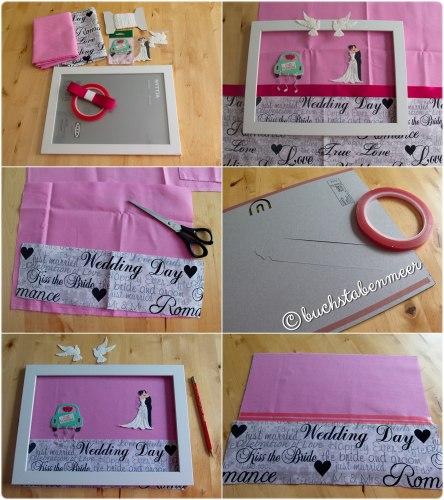 Hochzeitsgeschenk Rahmen basteln  Buchstabenmeer