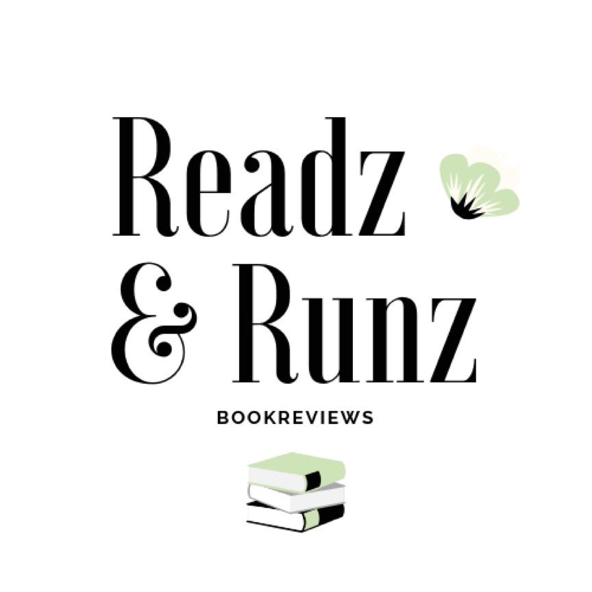 Das Logo von Scarlett Readz and Runz: Der Titel des Blogs verschnörkelt, Bücher darunter.
