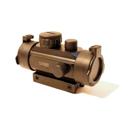 1X30mm Red Dot Scope with closed lens caps