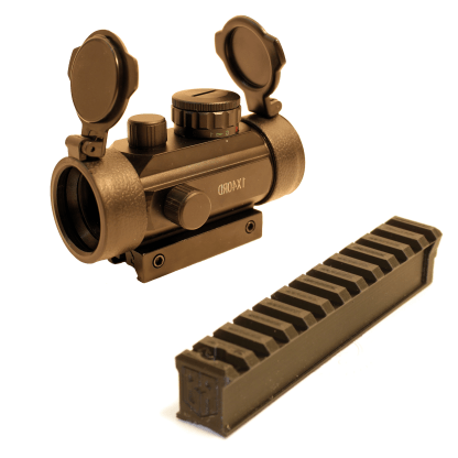 30mm Red Dot and Little Buck Rail Together