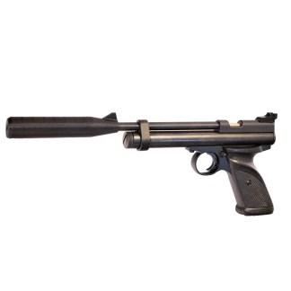 3d printed silencer mounted on the Crosman 2240
