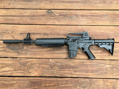 Crosman M4-177 with silencer installed