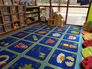 Our carpet area, used for registration, circle time and story time.