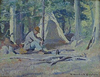 "W. Herbert Dunton | ""Lazy Day in Camp"""
