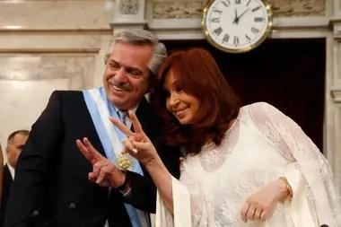 Asuncion del presidente Alberto Fernández y la vicepresidenta Cristina Fernández de Kirchner.