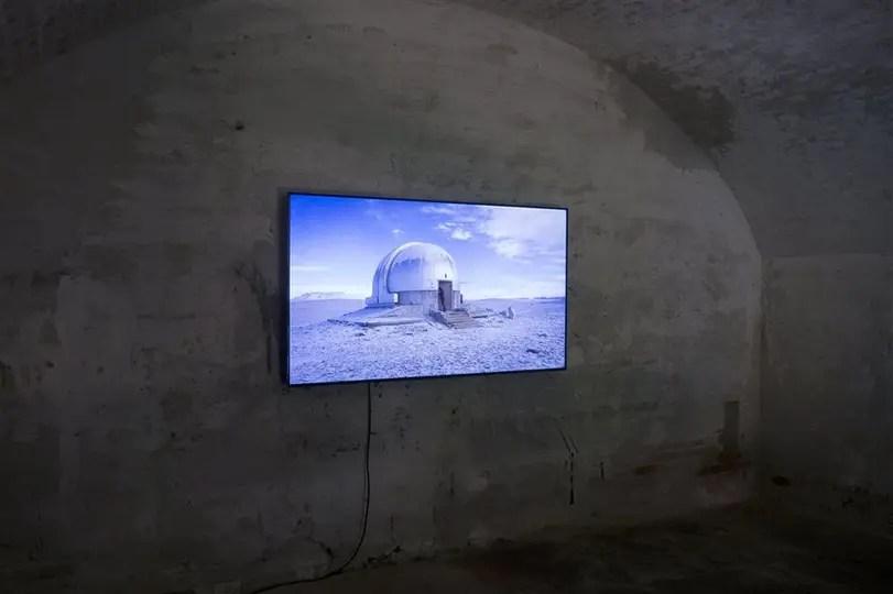 Sebastián Díaz Morales. Una de las instalaciones que exhibe en el marco de la muestra Viva Arte Viva