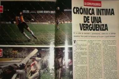 La revista El Gráfico reflejó el polémico partido en Ecuador