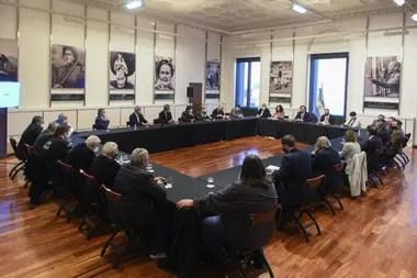 Reunión con empresarios y gremialistas en Casa Rosada