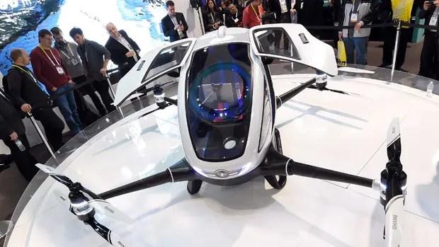 El drone EHang 184 puede llevar una persona