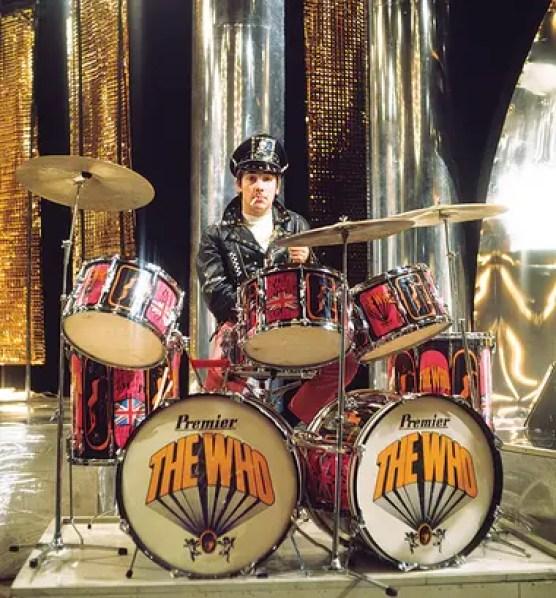 """Keith Moon tocando su batería de """"Pictures of Lily"""", 1967. """"Diría que es la batería más icónica de Moon"""", dice Inciardi."""