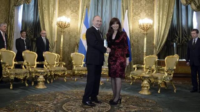 La Presidenta, durante su visita a Rusia
