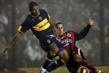Cata Díaz jugando en Boca en aquel equipo que lograra la Copa Libertadores de 2007