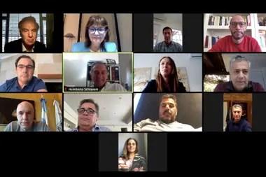 Los referentes de Juntos por el Cambio mantuvieron una videoconferencia