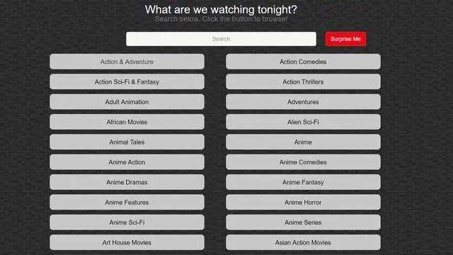 Un sitio que te ayuda a buscar categorías en Netflix para encontrar mejor el contenido