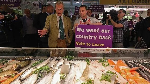 Nigel Farage, del nacionalista UKIP, es uno de los defensores de salir de la UE