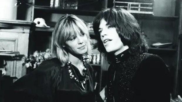 Anita Pallemberg y Mick Jagger actuaron juntos en la película Performance (1970)