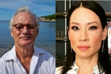 Bill Murray (izq.) se quejó en voz alta de la técnica interpretativa que utilizaba Lucy Lui (der.).