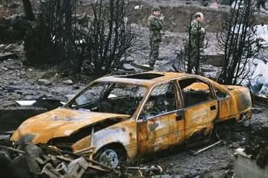 En Lockerbie, un pequeño pueblo del suroeste de Escocia, se vivieron escenas de una devastación inimaginable