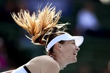 La potencia de Sharapova, que fue una atracción dentro del court y lo seguirá siendo afuera