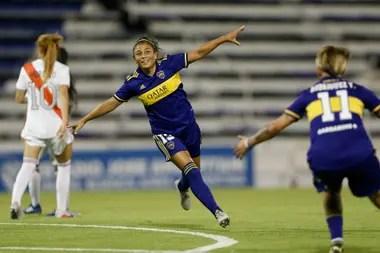 Boca celebró en la final del fútbol femenino ante River.