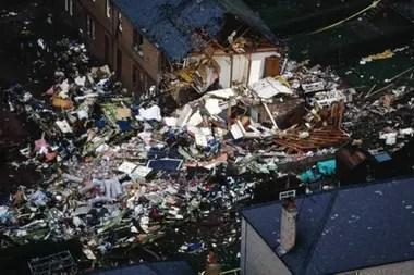 Las casas de Rosebank Crescent fueron las más afectadas por la colisión.