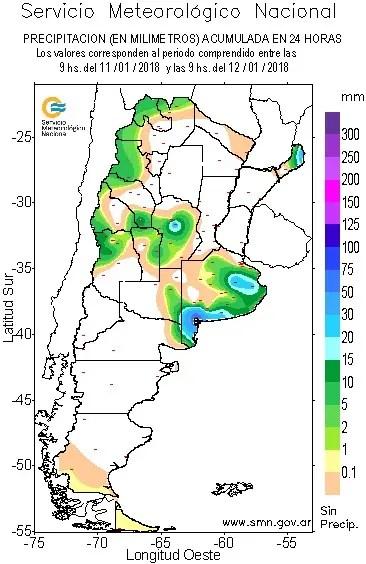Las lluvias serán variables en todo el país