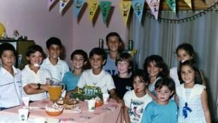 Rodrigo Borbolla festejando sus 8 años