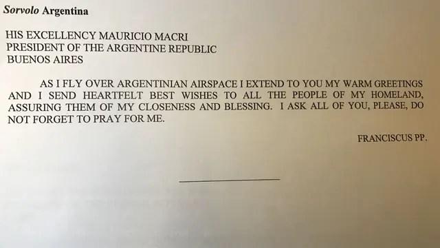 El mensaje que el papa Francisco le envió a Mauricio Macri