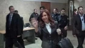 Cristina en el cuarto piso de Comodoro Py