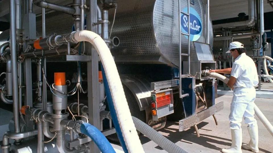 SanCor está elaborando la mitad de leche que procesaba hace sólo cuatro meses foto: Archivo