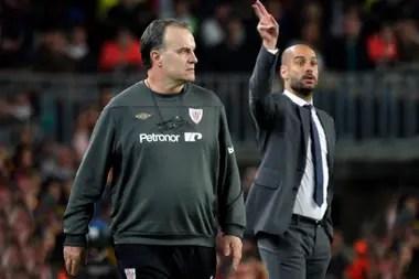 Bielsa y Guardiola se enfrentaron tres veces en España: el argentino nunca pudo ganarle al catalán.