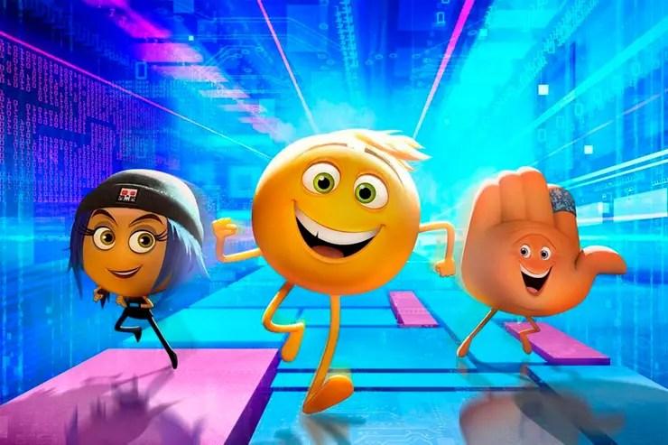 Los simpáticos personajes de Emoji, la película no convencieron al jurado