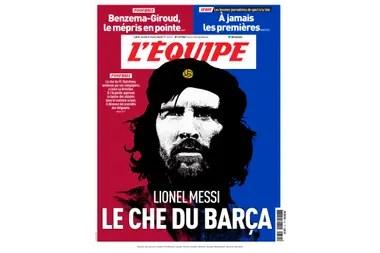 La portada en cuestión del diario deportivo francés L´Equipe.