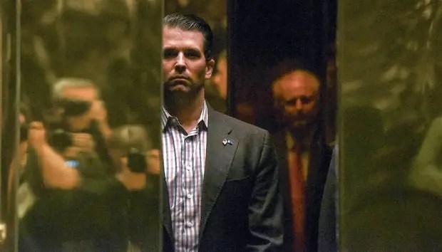 El hijo de Trump reveló ayer nuevos detalles sobre su encuentro del año pasado en la Torre Trump