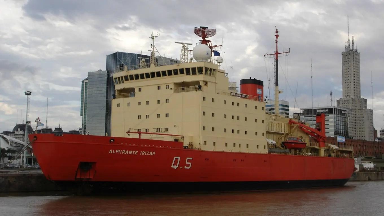 El rompehielos Almirante Irízar realiza una navegación de prueba luego de 10 años de inactividad Prensa Defensa