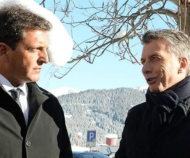 Massa y Macri en Davos, una postal lejana