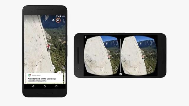 Además de YouTube, la aplicación de vistas panorámicas Street View ahora es compatible con el visor de cartón Cardboard de Google