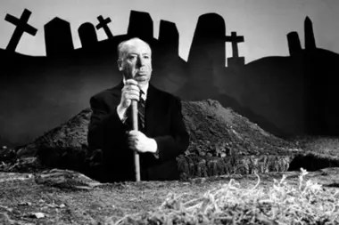 Hitchcock promocionando su film Vértigo
