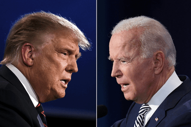 El presidente Donald Trump y el candidato demócrata Joe Biden