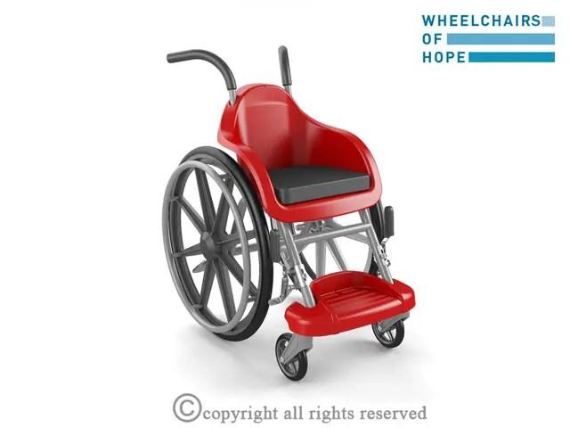 La silla de ruedas está hecha con plástico y cuesta tan sólo US$ 100