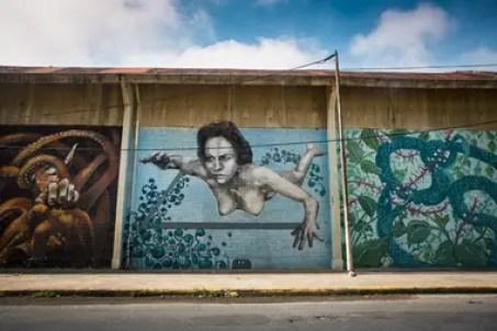 Los primeros murales fueron hechos por reconocidos artistas. Luego se sumaron los vecinos.