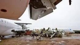Entre 400 y 600 aviones comerciales de todo el mundo son desmantelados cada año.