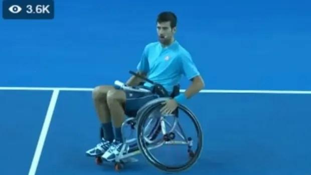 Djokovic, en Melbourne, durante una exhibición benéfica