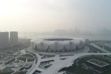 El estadio Lotus, de Foshán, estrenado en 2005.