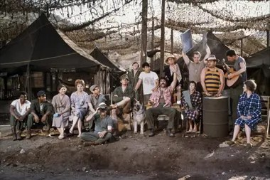 El elenco de M.A.S.H.; la película de Altman se rodó entre abril y julio de 1969