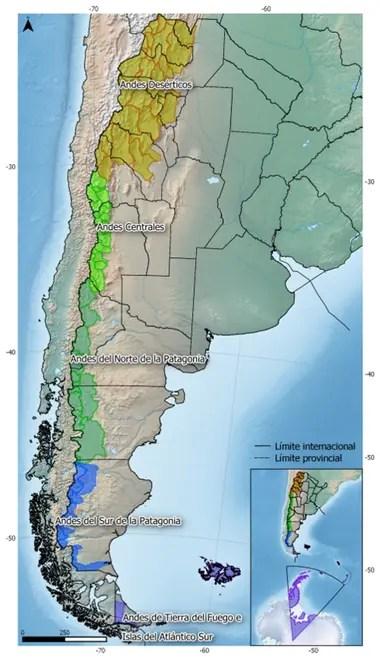 El país está dividido en regiones también en lo que respecta a los glaciares