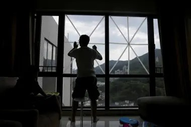 Mr. Chen lives on a 19th floor in Shenzhen, China, and prepared for the winds and rains of Mangkhut