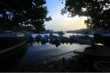 Barcos atracados en la bahía de Alcan, en Chaguaramas, Trinidad y Tobago