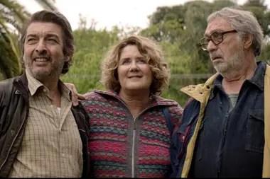 Darín con Verónica Llinás y Luis Brandoni en La Odisea de los giles